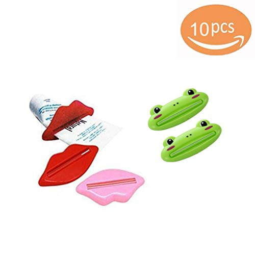 Jebester Lip Shape Tandpasta Buis Gezicht wassen Schoonmaken Schuim Crème Roller Squeezer Dispenser ABS Clip