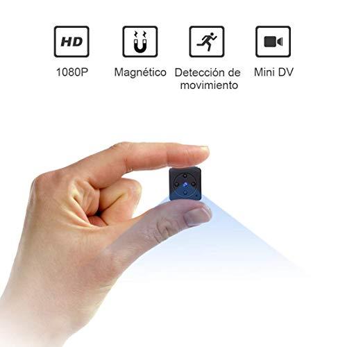 Mini Camara Espia Oculta Videocámara, NIYPS 1080P HD Cámara Vigilancia Portátil Secreta Compacta con Detector de Movimiento IR Visión Nocturna, Camaras de Seguridad Pequeña Interior/Exterior