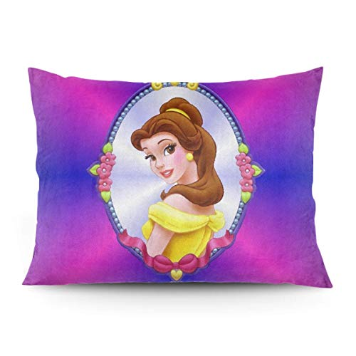 ZLCMMF Belle Throw Pillow Covers Decorative Cotton Pillowcases for Living Room Sofa Couch Bed Soft Pillow Cases 20 x 26 Inch