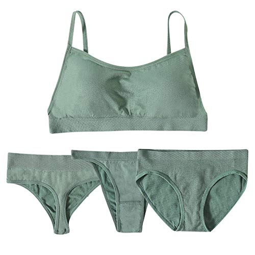 Underwear Mujeres sujetador y bragas conjunto de lencería conjunto sexy tanga sujetador activo push up sujetador 1 sujetador+3 bragas Crop Top