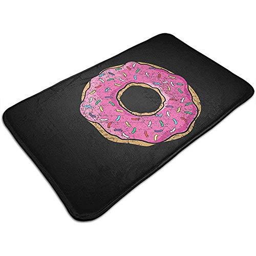 Liumt Grote Roze Strooi Donut Deur Mat Decoratieve Antislip Badmat Tapijt 40cm*60cm