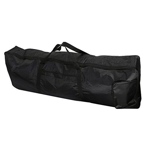 SDENSHI E-Piano-Tragetasche, 61 Tasten, Keyboard-Tasche Rucksack Gig Bag, 103 x52 x2cm, Reiß- und Wasserfest, Verstellbar Rucksackgurte, Schwarz