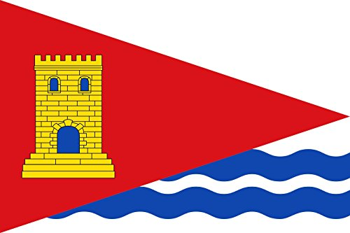 magFlags Bandera Large Municipio de Tórtola de Henares Castilla-La Mancha | Bandera Paisaje | 1.35m² | 90x150cm