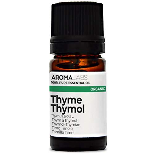 Aroma Labs Timo Timolo Bio - 5Ml - Olio Essenziale Bio E Naturale Al 100% - Qualità Verificata Mediante Cromatografia - Aroma Labs - 5 ml