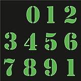 Sticker Mimo Adhesivos con números vintage para moto, grandes patrocinadores, motocross, casco, calcomanías para coche Vespa Scooter (fosforescente verde)