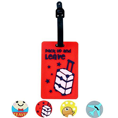 ryadia (TM) Étiquettes de bagage sac à main Cartoon coloré Grand mignon Motif Label cherche portable sécurisé Voyage Valise ID Etiqueta vente