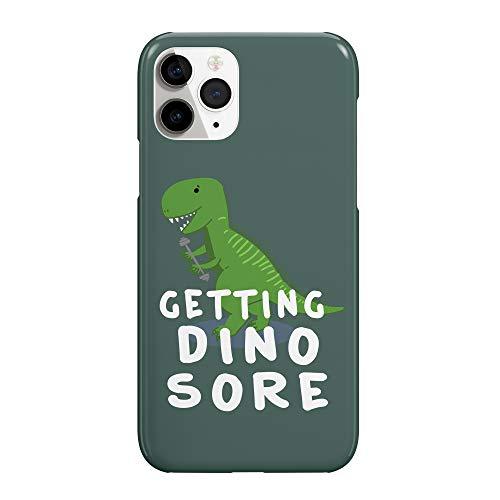 Getting Dino Sore Gym Workout_MRZ2284 - Funda protectora de plástico duro para teléfono inteligente, funda para iPhone 6 Plus