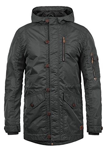 Blend Herren Übergangsparka Parka Mantel Lange Jacke Mit Kapuze, Größe:XL, Farbe:Phantom Grey (70010)