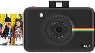 Polaroid Snap - Cámara digital instantánea tecnología de impresión Zink Zero Ink 10 Mp Bluetooth micro SD fotos de 5 x 7.6 cm negro