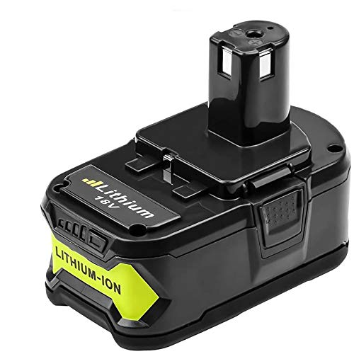 Replacement for Ryobi 18v Battery 6.0Ah Lithium for Battery ONE+ P102 P104 P105 P106 P108 P107 P109 Cordless Tools Battery Amsbat