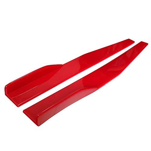 Duoying Spoiler del Coche Falda Lateral Colores Rojos universales Modificación del Auto Difusor de la Moda PP Kit para el Cuerpo