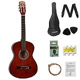 DAWOO 38-Inch Acoustic Guitar,Classic Guitar,Beginner Music Lovers Guitar Set (Brown)