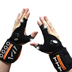 Excellent Design: This led flashing gloves are pretty useful by providing a 3rd helping hand when in the dark. No need to hold the light for you and free your hands. High Brightness: The led gloves are with 2 led on index finger and thumb which is br...