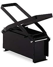 Relaxdays Papierbriketten, staal, papierpers voor briketten, handmatig, persen van oud papier, h x b x d: 12 x 26 x 9 cm, zwart, 1 stuk