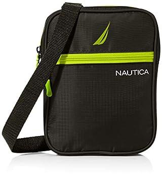 Nautica mens Small Crossbody for Men Messenger Bags Black One Size US