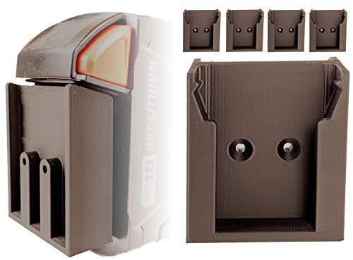 5 soportes de pared con seguridad para baterías Milwaukee M18 B2, B4, B5, B6, B9 | Baterías para baterías Milwaukee | Soporte de pared Milwaukee