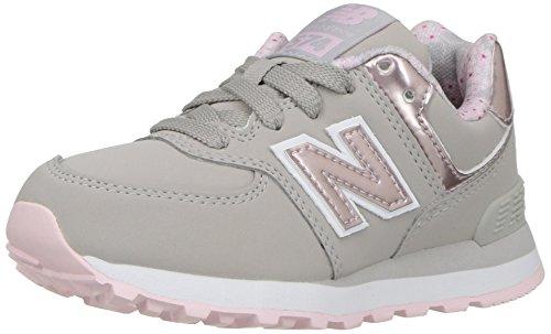 New Balance New Balance Damen Kl574 Sneaker, Mehrfarbig Grau Pink, 38.5 EU