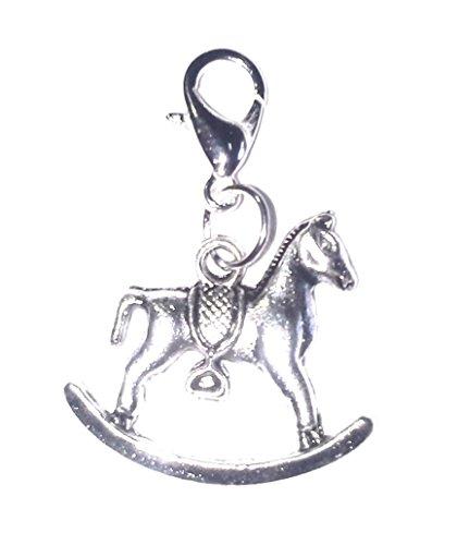 Juicy Jewellery Cute Rocking Hobby Horse Mum to Be Clip On Bracelet Charm