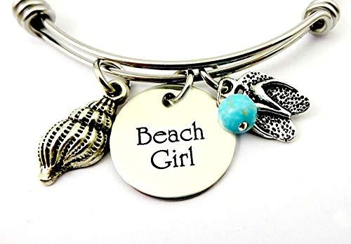 BEACH GIRL Flip Flops Bangle Bracelet