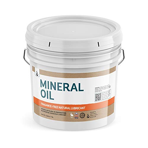 Mineral Oil (1 Gallon Bucket) by Pure Ingredients, Resealable Bucket, Food & USP Grade, Fragrance-Free,...