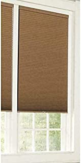 allen + roth Blackout Cordless Polyester Cellular Shade 34-in x 64-in Brown Linen