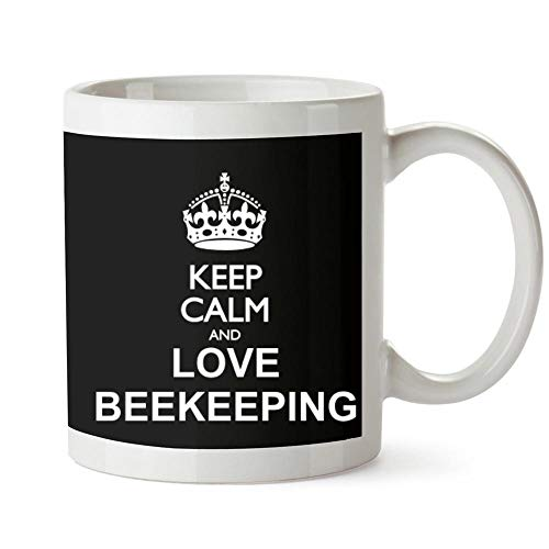 Idakoos Keep calm and love - Taza de apicultura (11 onzas)