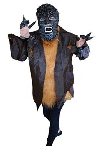 Ikumaal F52 Werwolf-Kostüm Gr. M/L, Halloween-Kostüme Herre-n Dame-n Erwachsene Herrenkostüm-e Fasching-s Karneval-s Fasnacht-s