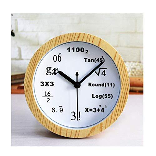 Yxxc Reloj Retro * Reloj de Soporte Reloj de Escritorio Reloj de fórmula matemática Moda Ciencia Creativa Reloj de Mesa Digital Reloj Madera Maciza Reloj s