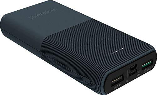 TerraTec P200 PD - Powerbank - 20000 mAh - 3 A - Quick Charge 3.0-3 Ausgabeanschlussstellen (2 x USB, USB-C) - Schwarz (282258)
