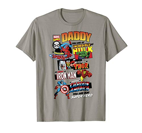 Marvel Avengers Father's Day Retro Comic Graphic T-Shirt