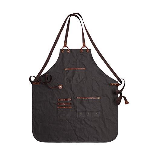 SEGIBUY Tool Schort Heavy Duty werk schorten ingenieurs timmerman schilderen schort met zakken voor mannen vrouwen pak voor Workshop koffie Multifunctionele schorten