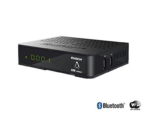 Edision OS Nino Full HD Sat-Kabel-Receiver (1x DVB-S2, 1x DVB-C, WiFi onboard, 2X USB, HDMI, LAN, Linux, Kartenleser) schwarz
