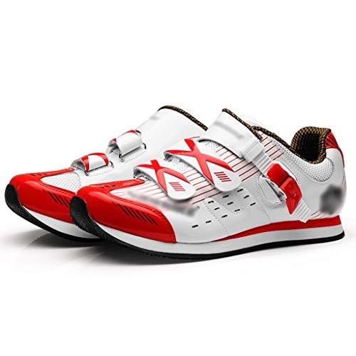 Zapatos de Bicicleta Zapatos De Bicicleta Sin Candado, Calzado De Ciclismo Transpirable Informal, Calzado De Ciclismo MTB, Zapatillas De Ciclismo De Montaña (Color : Blanco, Size : US-9.5)