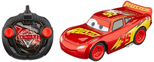 "Dickie Toys 203084010\"" Cars 3 RRC Turbo Racer Lightning McQueen RC Fahrzeug, ferngesteuertes Auto, 1:24, 17cm"