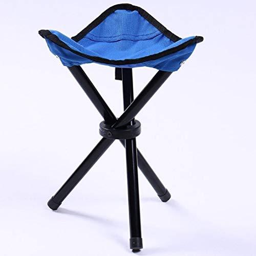WXK Outdoor-Reisen Angeln Strandkorb, Einfache Tragbare Falten Freien Fischen Dreieck Stuhl, geeignet for den Tourismus Camping Fischen Wandern (Color : Blue)