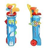 Banderas PracKids Juguete de palos de golf Set de juguetes para niños Golf Pro Set de juguete para niños Bola de plástico Caddy al aire libre Playa Jardín Gamestice Bolas Deportes Juguetes de interior