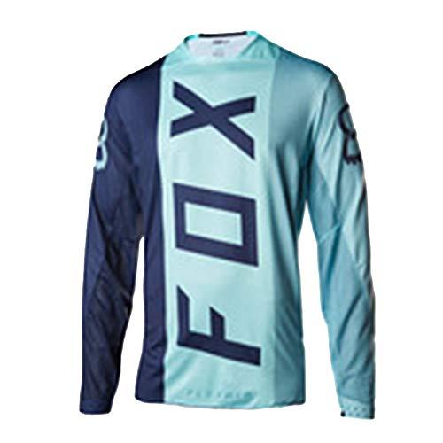 Maillot Ciclismo Hombre Ropa Camiseta Jersey Bicicleta MTB con Mangas Largas para Entretiempo Y Invierno (6,3XL)