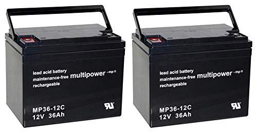Ersatzakku für MOBILIS M53/M54 2X Multipower 12V - 36Ah Zyklenfest AGM VRLA AKKUman Set
