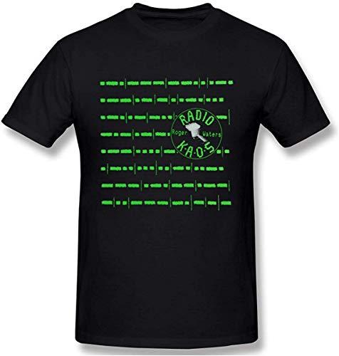 NATHAN DAVISON Men's Roger Waters Radio KAOS Graphic Design Short Sleeve T-Shirts,4X-Large Black