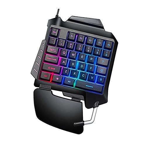 LPZW. Einhand-Gaming-Tastatur-Backlit-Mechanische mechanische kabelgebundene Tastatur einhändig Ergonomisches Design Gaming-Tastatur eignet Sich für Desktop-Laptop-Gamer