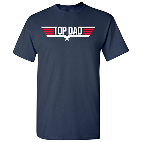Top Dad - Father's Day, Papa, Pops, Grandfather - Adult Men's Cotton T-Shirt - 2X-Large - Navy