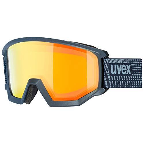 uvex Unisex– Erwachsene, athletic FM Skibrille, navy mat, one size