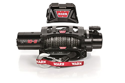 WARN 96815 VR10-S Electric 12V Winch with Synthetic Rope: 3/8' Diameter x 90' Length, 5 Ton (10,000 lb) Pulling Capacity