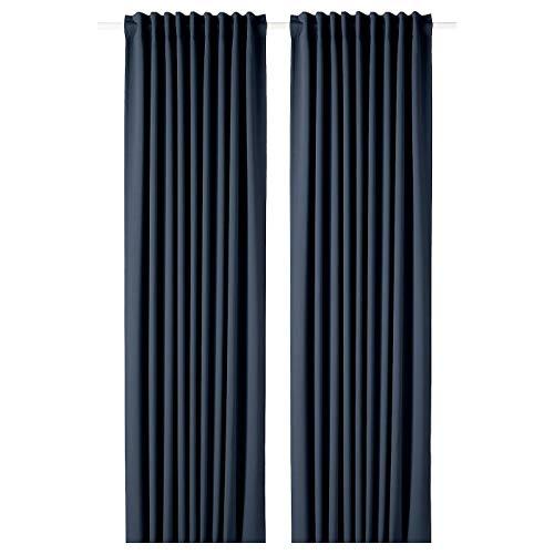 My- Stylo Collection 1 Paar dunkelblau Vorhänge dunkelblau Produktgröße: Länge: 250 cm Breite: 145 cm Gewicht: 2,00 kg Fläche: 3,63 m² Verpackungsmenge: 2 Stück Materialien: 100% Polyester
