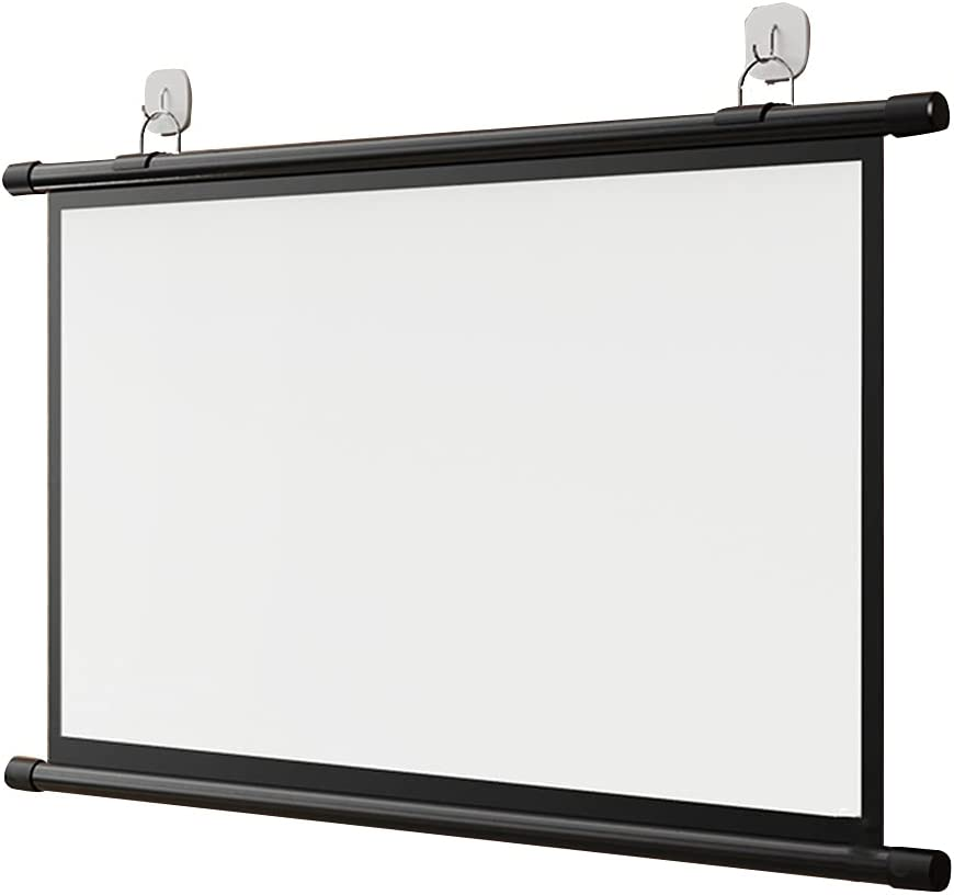 Small 60-inch Mobile Portable Projection Cloth Manual Curtain 70-inch high-Definition Projector Screen for Bedroom Office Sliding Buckle Design