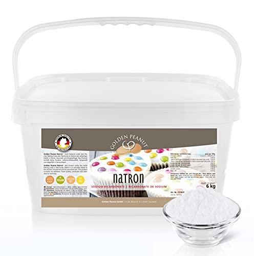 Natron - Natriumbicarbonat 6 kg | Backsoda | höchste Reinheit 99,3% | ohne Zusätze | geprüfte Lebensmittelqualität | Gluten- u. Lactosefrei | Golden Peanut