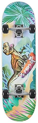 """AREA Komplett Skateboard für Kinder 28\"""" Zoll - ab 5 Jahre mit Aluminium Achse (Dino) …"""