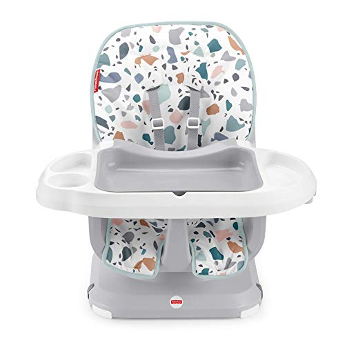 Fisher-Price GWD47 - SpaceSaver High Chair - Pacific Pebble, Infant-to-Toddler Dining Chair