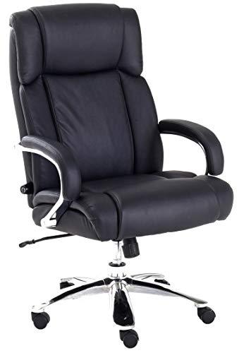 Robas Lund Bürostuhl bis 220 Kg belastbar in Schwarz Chefsessel Drehstuhl höhenverstellbar, Real Comfort 5