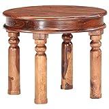 Tidyard Couchtisch Tisch Beistelltisch Sofatisch Kaffeetisch 55 x 46 cm (Durchmesser x H) aus Palisander-Massivholz